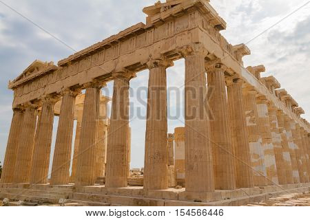 Temple Parthenon on the Acropolis of Athens in Greece