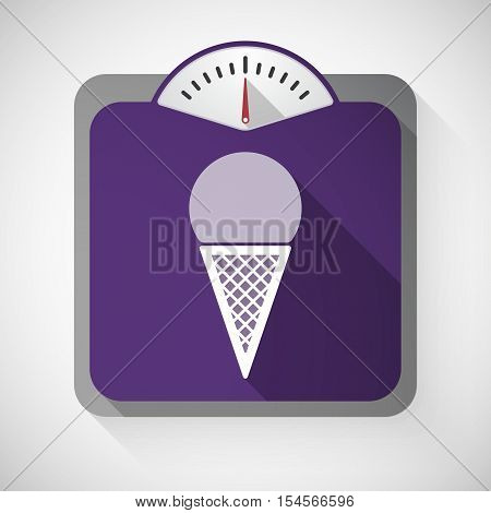 Long Shadow Weight Scale With A Cone Ice Cream