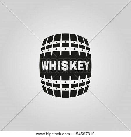 The whiskey icon. Cask and keg, alcohol symbol. UI. Web. Logo. Sign. Flat design. App. Stock vector
