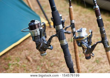 Fishing Rods And Hiking Tent