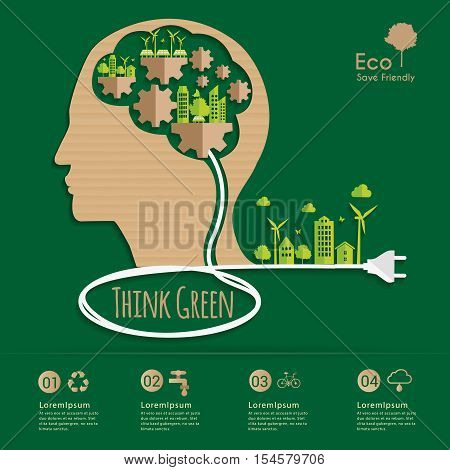 Vector infographic elements.Environmental Systems Thinker. renewable energy and sustainable development.Ecology Recycling concept design.Can used for banner presentation business brochure leaflet .