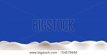 Long abstract background liguid milk, or yogurt. Vector illustration design.