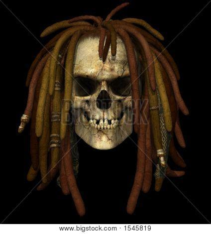 Grunge Skull With Dreadlocks