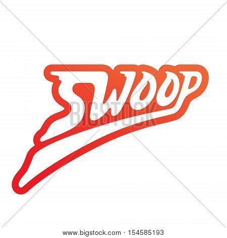 Swoop vector logo design. Lettering vector logo. Calligraphic logotype design