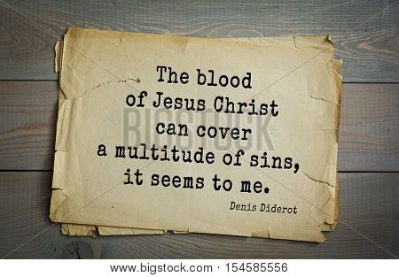 Top 35 quotes by Denis Diderot - French philosopher, art critic, writer. 
