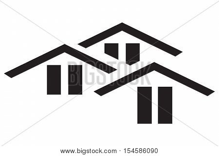 icon vector building isolated residency shelter family