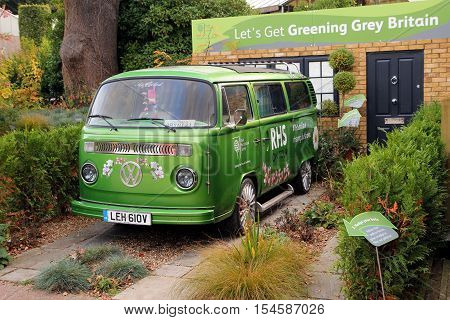 Wisley Surrey UK - October 22nd 2016: Royal Horticultural Society promotional VW van