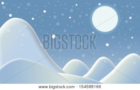 Winter snow background and slope mountain with Christmas event concept