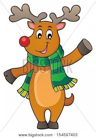 Stylized Christmas deer theme image 1 - eps10 vector illustration.