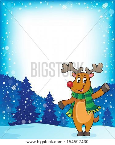 Stylized Christmas deer theme image 2 - eps10 vector illustration.