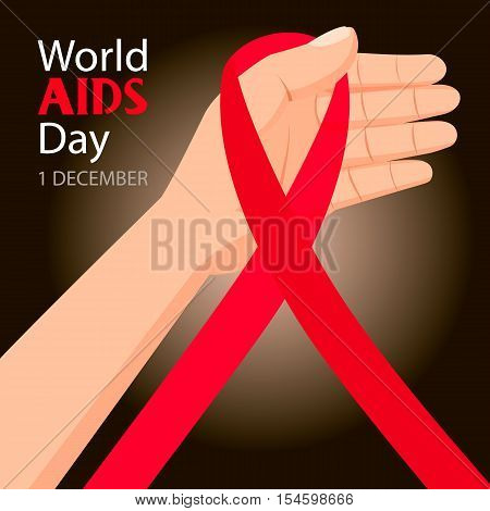 World AIDS Day. 1st December World Aids Day poster.
