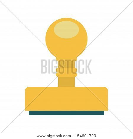 silhouette with office stamp shape vector illustration