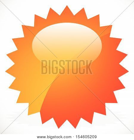Price Flash, Starburst, Sunburst Badge In Vivid Color With Highlight