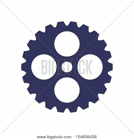 dark blue silhouette gear wheel icon vector illustration