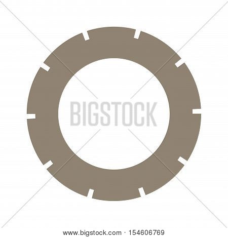 light brown silhouette washer of security vector illustration