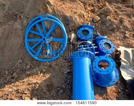 250Mm And 150Mm  Drink Water Pipe Collars, Gate Wheel,  Reduction Member. Pipe Fitting