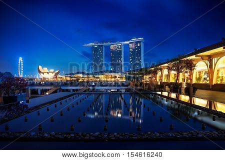 Singapore city skyline at night Singapore cityscape Singapore