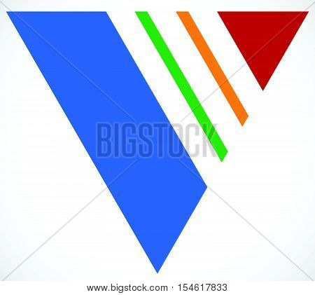 Geometric Triangle With Stripes, Lines. Triangle Emblem, Icon.