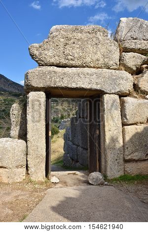 The North Gate In Ancient Mycenae, Greece