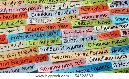Happy New Year On  Different Languages