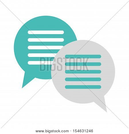silhouette oval callout for two dialogues vector illustration