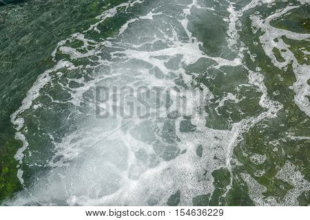 a full frame natural spumous water background
