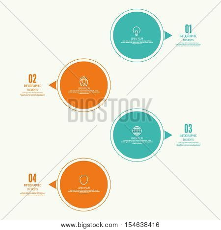 Comparative chart with banner for presentation, informative forms. Infographic option. Info chart Process step by step. Text box infographics report template layout. Vector illustration poster
