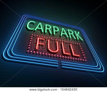 Parking Sign Concept.