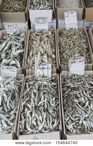 Dried Fish Market In South Korea