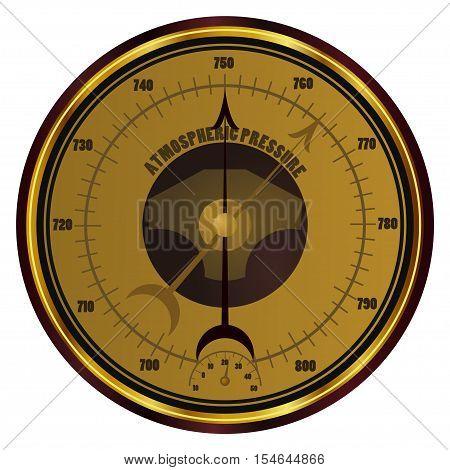 Vector Barometer isolated on white background. eps10