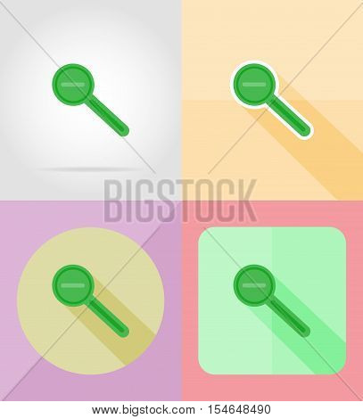 magnifier increase and decrease for design flat icons vector illustration isolated on background