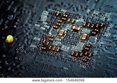 abstract electronic circuit mother board pattern background