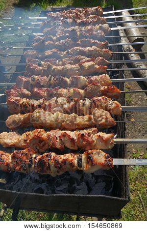 meat, grill, grilled, ribs, pork, food, steak, fire, cooking, grilling