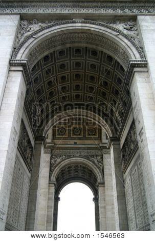 Arches Of The Arc De Triomphe