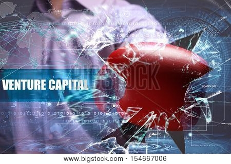 Business, Technology, Internet And Network Security. Venture Capital