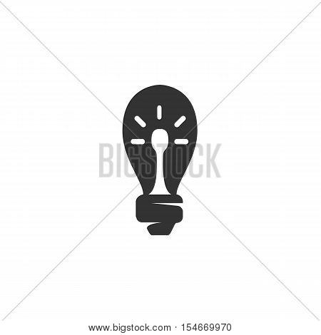 Lightbulb Icon isolated on a white background - stock vector