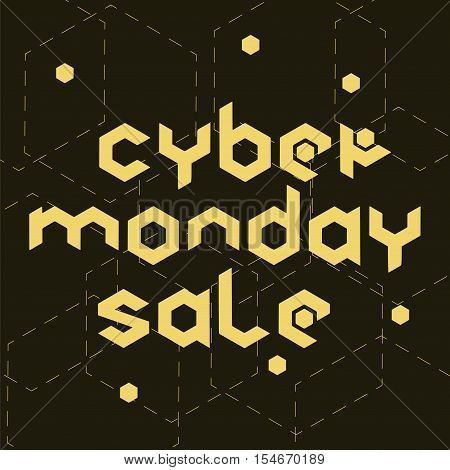 Cyber Monday Sale Hexagonal