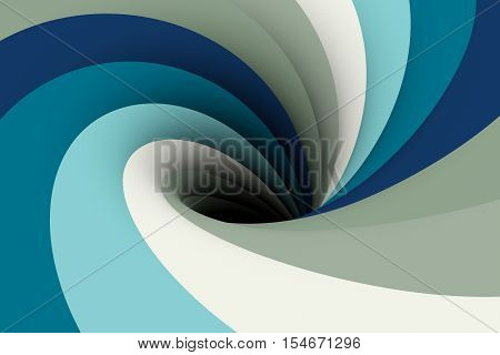 a black hole in the cornflower color 3D illustration