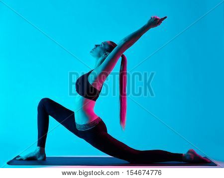 woman yoga exercices Anjaneyasana