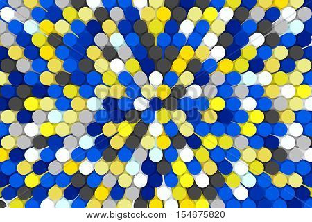 abstract colorful background mosaic tube 3D illustration