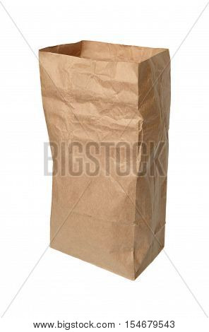 Paper packaging isolated on a white background.
