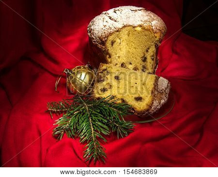 Piece Of Panettone, Traditional Cake For Christmas And New Year.