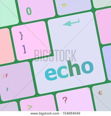 computer keyboard key with echo button on it