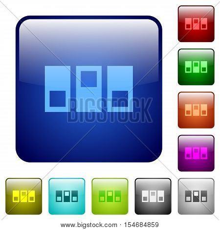 Switchboard color glass rounded square button set