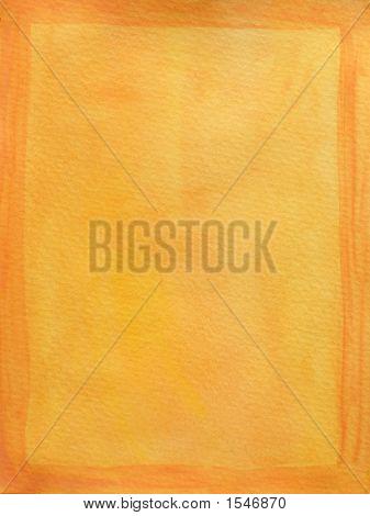 Painted Orange Frame On Yellow Background