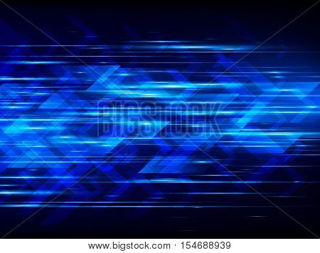 High speed, Hi-tech, Abstract technology background, Vector illustration