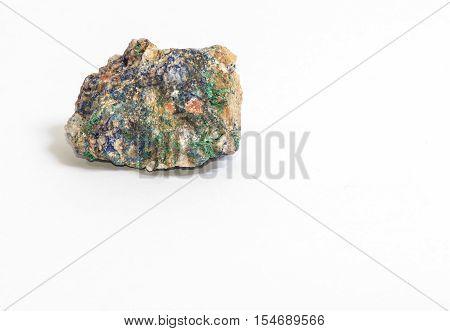 a small piece of Azurite, a blue copper mineral