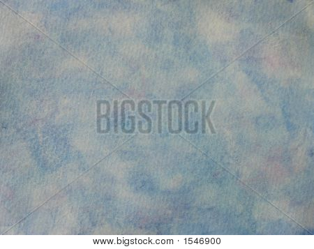 Blue Stains On Textured Paper