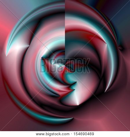 Abstract coloring background of the dark gradient with visual lighting and poolar coordinates effects,good for your project design