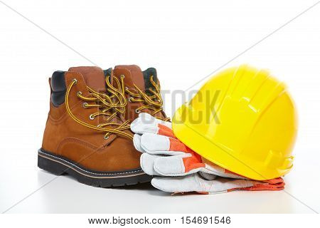 Yellow Helmet And Shoes